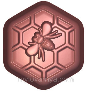 Пластиковая форма «Beehive Hexagon» Пчелка/Соты 1 форма