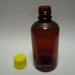 Флакон ( бутылочка), темный пластик, 100 мл