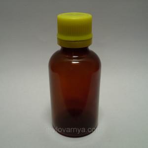 Флакон ( бутылочка), темный пластик, 50 мл