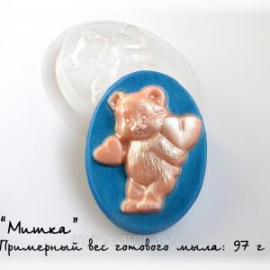 Пластиковая форма Мишка с сердцами