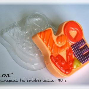 Пластиковая форма LOVE