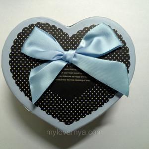 Подарочная коробка Сердце / синий