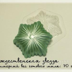 Пластиковая форма Звезда Рождественская